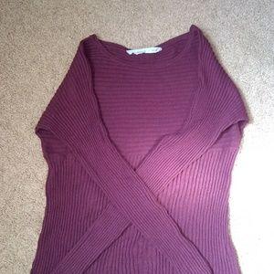 Athleta ridded burgundy sweater